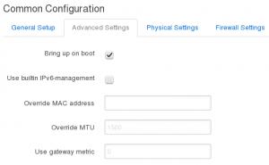 Interface Configuration - Advanced