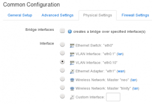 Interface Configuration - Physical