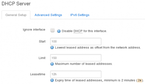 Interface Config - DHCP