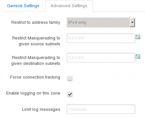 Firewall Configuration - Advanced