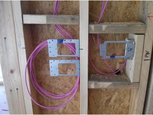 Cabled Wall Plates