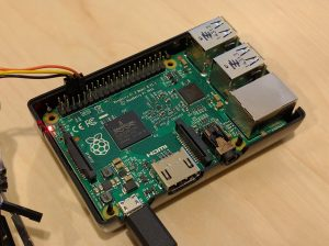 Raspberry Pi 2, powered by USB with 3v UART connected